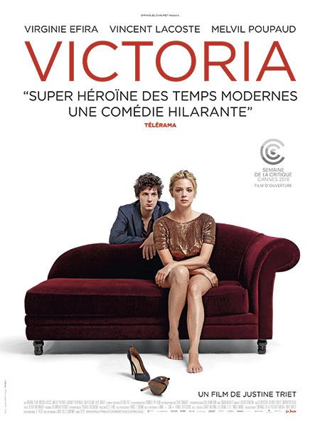 Affiche du film Victoria de Justine Triet, partenaire