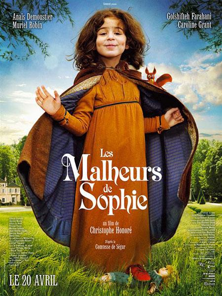 Affiche film Les malheurs de Sophie - film partenaire BANDE A PART, magazine de cinéma