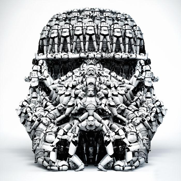 Image mythe Star Wars 13 stormtrooper casque fait avec des stormtrooper