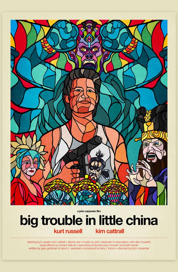 Van Orton Design Affiche Graphisme Jack Burton Kurt Russell John Carpenter Vectoriel Vitrail Poster film