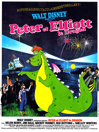 peter et elliot le dragon affiche 1977