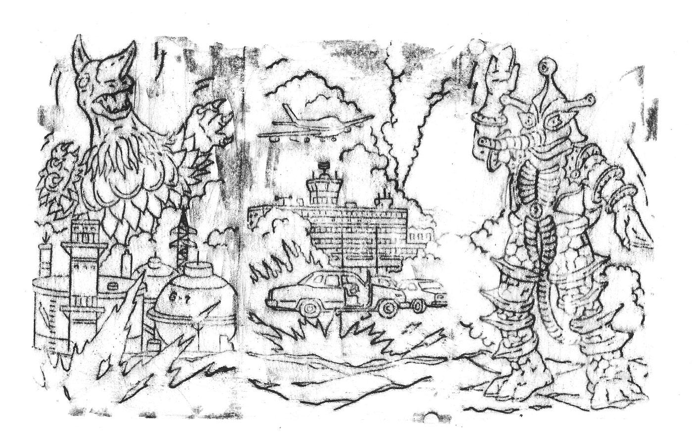 le mythe Godzilla décryptage dessin