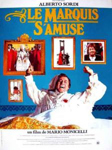 Dossier spécial sur le vin et le cinéma : l'affiche du film Le marquis s'amuse