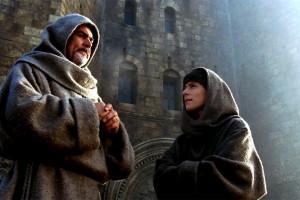 Sean Connery et Christian Slater dans le Nom de la Rose