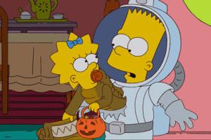 Simpsons gif Bart Alien Ridley Scott Xenomorph Matt Groening