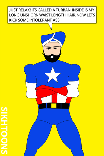 Affiche cartoon Captain America par Vishavjit Singh