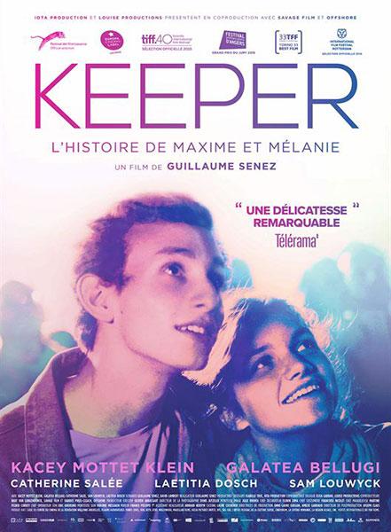 Affiche film Keeper de Guillaume Senez, sélection de la semaine BANDE A PART magazine de cinéma