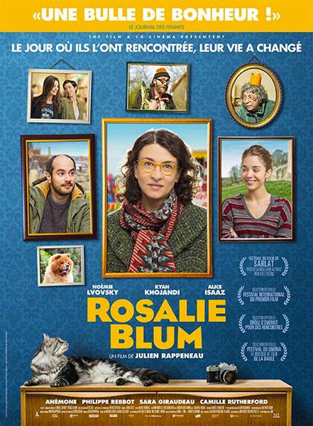 Affiche film Rosalie Blum de Julien Rappeneau, sélection de la semaine BANDE A PART magazine de cinéma