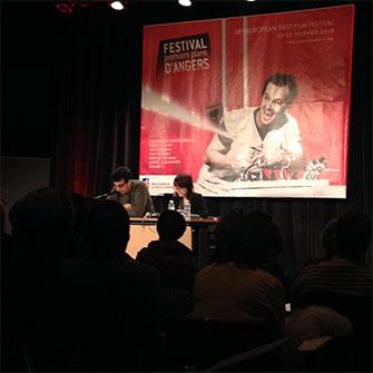 Carnet de voyage Premiers Plans d'Angers : lecture du scénario d'Annarita Zambrano au centre de congrès