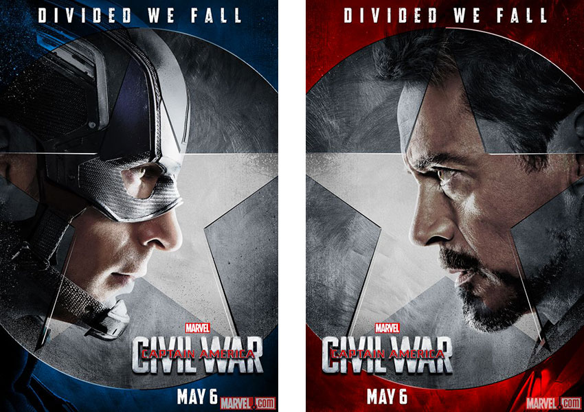 Captain America Civil War Super-héros Marvel versus Iron-Man
