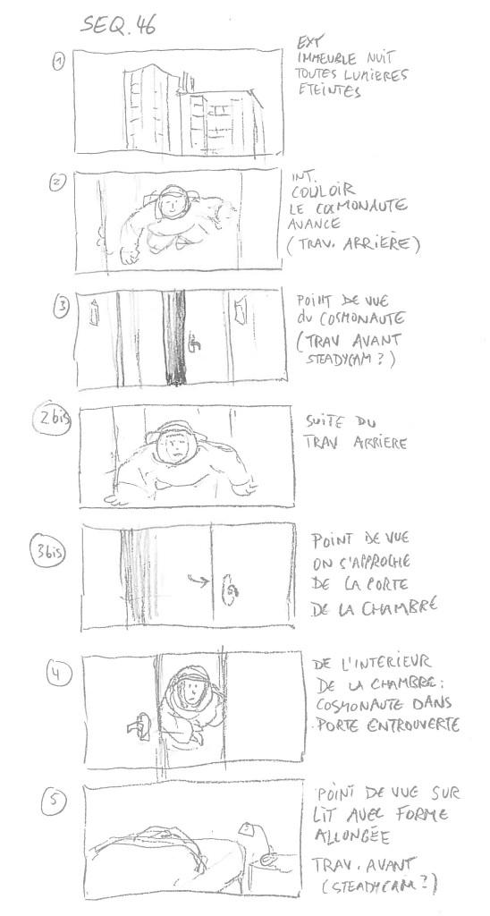 Dominik Moll : storyboard Des nouvelles de la planète Mars - séquence 46