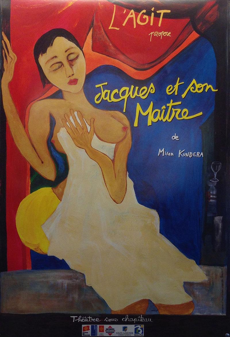 Affiche dessinée par Marion Bouvarel pour un spectacle proposé par la troupe L'Agit.