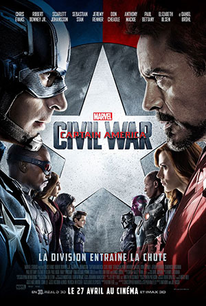 affiche captain america civil war marvel
