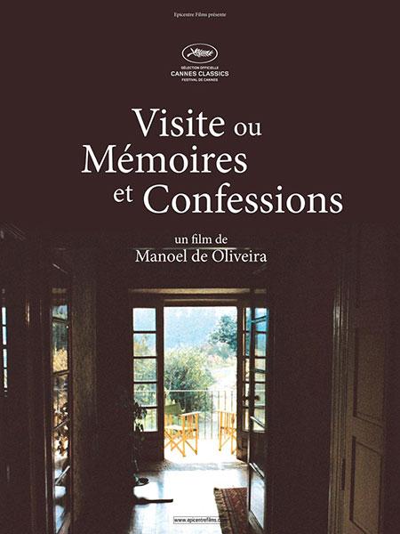 affiche visite ou mémoires et confessions documentaire de Manoel de Oliveira