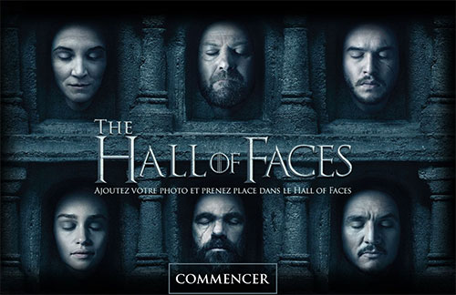 Games of Thrones jeu hall of faces saison 6