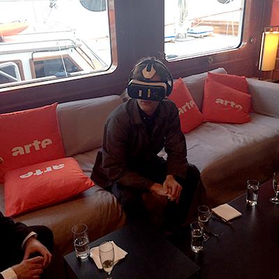 360VR jour de tournage sur le bateau d'Arte croisette cannes 2016
