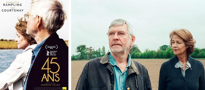 45 ans de Andrew Haigh avec Charlotte Rampling, Tom Courtenay