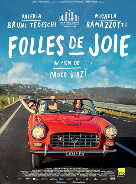 sélection de la semaine Folles de joie Paolo Virzì affiche