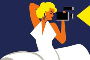 Extrait de l'affiche du 5e Champs Elysées Film Festival - Illustration de Morgand