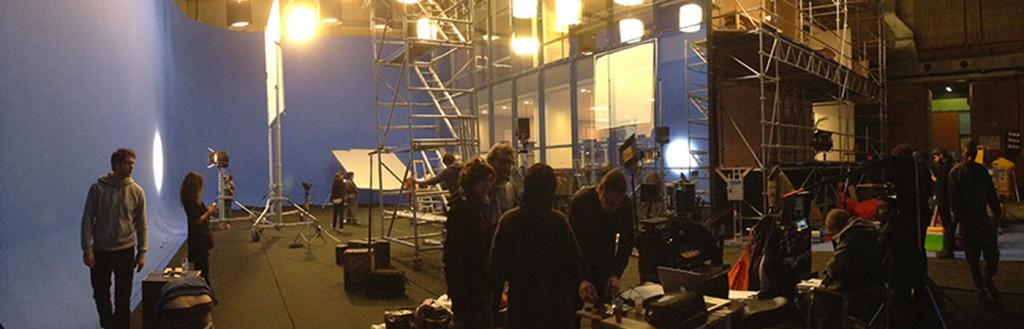 Studio de cinéma - Décor du film Samba de Olivier Nakache, Eric Toledano.