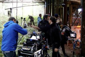 Sur le tournage de Je suis un soldat de Laurent Larivière