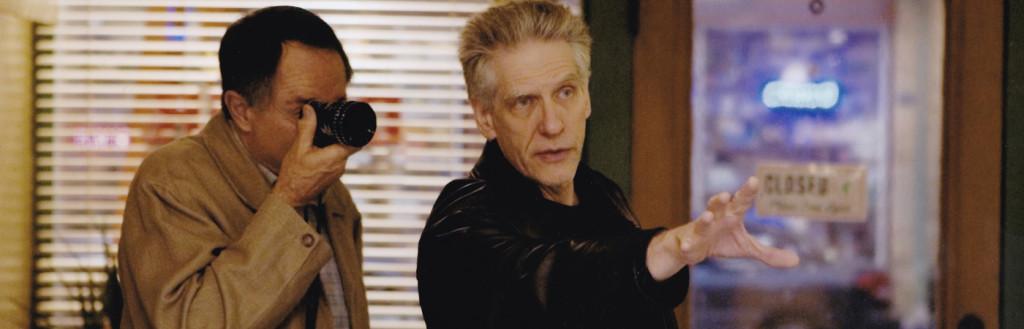 Peter Suschitzky avec David Cronenberg, tournage de A History of Violence