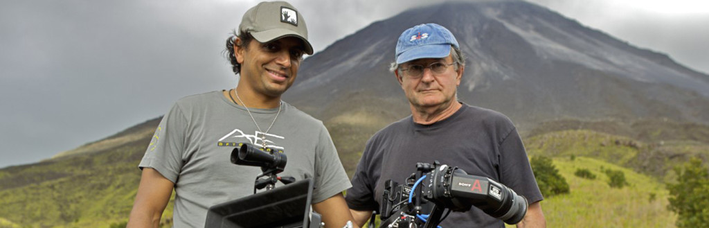 Peter Suschitzky avec M. Night Shyamalan, tournage de After Earth