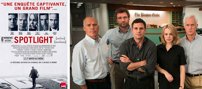 Spotlight de Tom McCarthy avec Michael Keaton, Rachel McAdams, Mark Ruffalo
