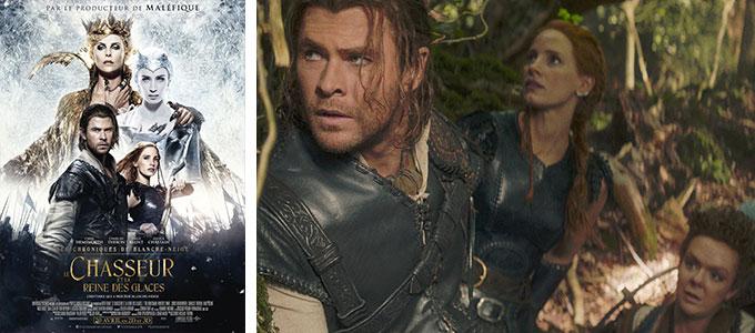 Sortie DVD : Le Chasseur et la Reine des Glaces de Cedric Nicolas-Troyan avec Charlize Theron, Emily Blunt, Jessica Chastain, Chris Hemsworth.