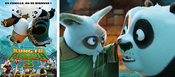 Sortie DVD : Kung Fu Panda 3 de Jennifer Yuh, Alessandro Carloni avec les voix françaises de Manu Payet, Pierre Arditi, Alison Wheeler.