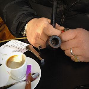Interview azimutée avec Grégory Gadebois : pipe © Anne-Claire Cieutat