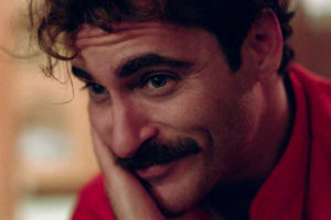 Portrait de Joaquin Phoenix : Her de Spike Jonze.