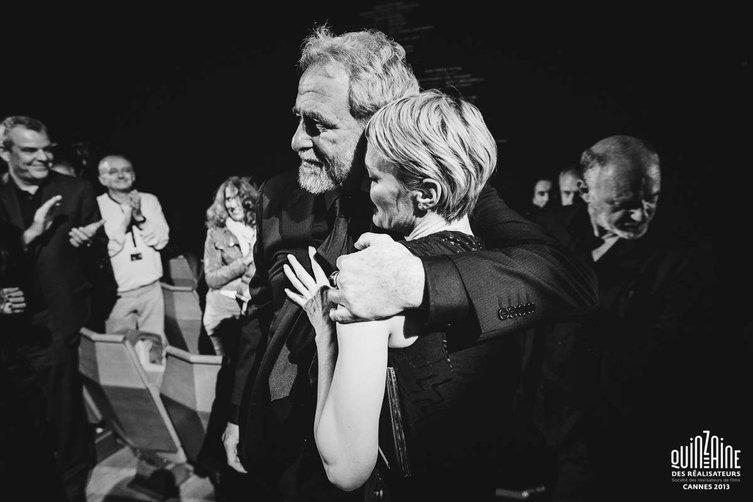 Ari Folman et Robin Wright © Quinzaine des Réalisateurs / Guillaume Lutz