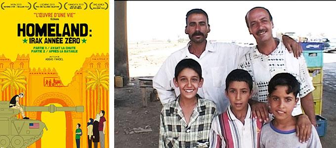 Sortie DVD du mois de septembre 2016 : Homeland (Irak Année Zéro) de Abbas Fahdel.