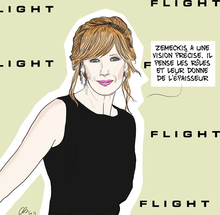 Kelly Reilly, illustration d'Olivier Bombarda