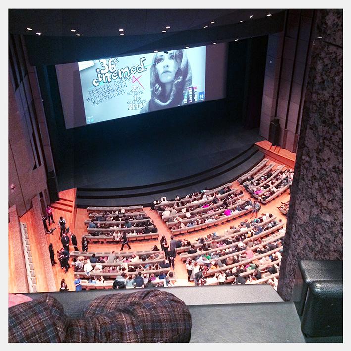 Festival Cinemed de Montpellier : La salle Berlioz, samedi 25 octobre 2014.