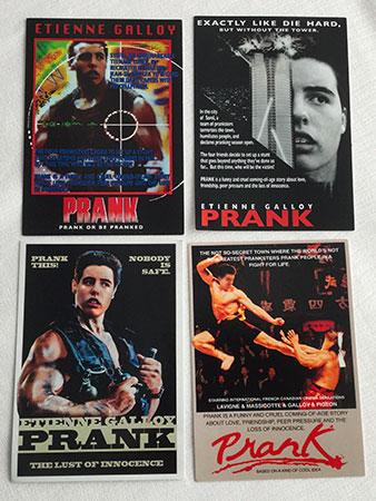 Les cartons distribués par l'équipe de Prank durant le Festival de Venise.