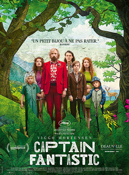 Captain Fantastic de Matt Ross avec Viggo Mortensen, sortie le 12 octobre 2016