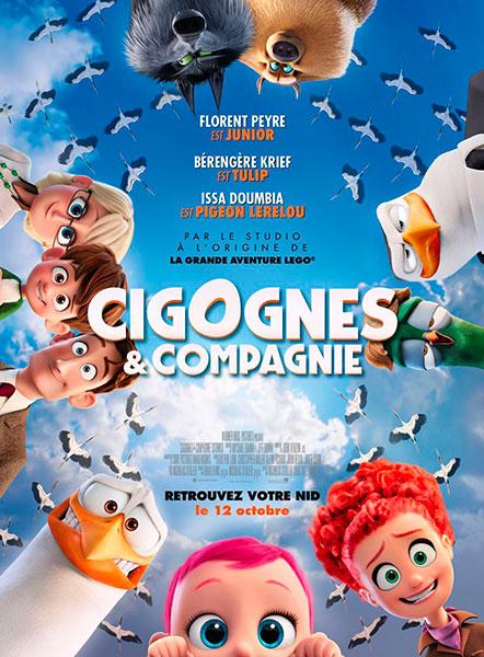 Affiche de Cigognes & compagnie de Nicholas Stoller et Doug Sweetland, sortie le 12 octobre 2016.