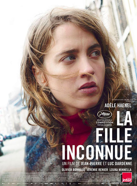 Affiche de La Fille inconnue de Jean-Pierre et Luc Dardenne avec Adèle Haenel, sortie le 12 octobre 2016.