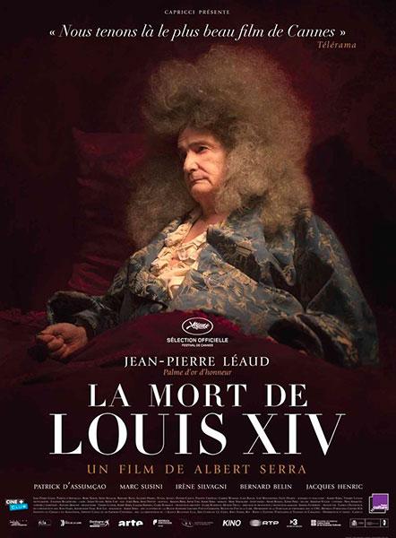 Affiche de La Mort de Louis XIV, sortie le 2 novembre.