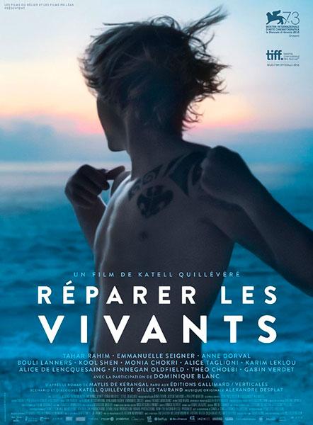 Affiche de Réparer les vivants de Katell Quillévéré, sortie le 1er novembre.