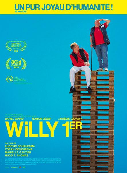 Affiche du film Willy 1er de Ludovic et Zoran Boukherma, Marielle Gautier et Hugo P. Thomas.