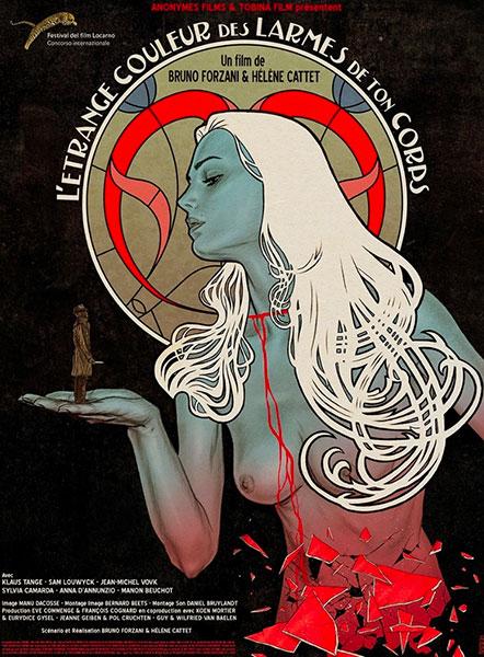 Affiche de L'étrange couleur des larmes de ton corps de Bruno Forzani et Hélène Cattet.