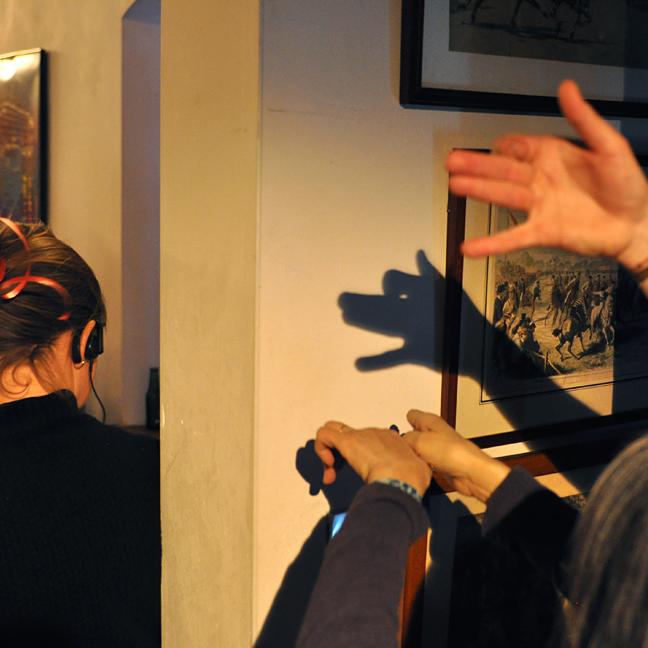 Sur le tournage de La Ritournelle : ombre chinoise © Yann Véronneau