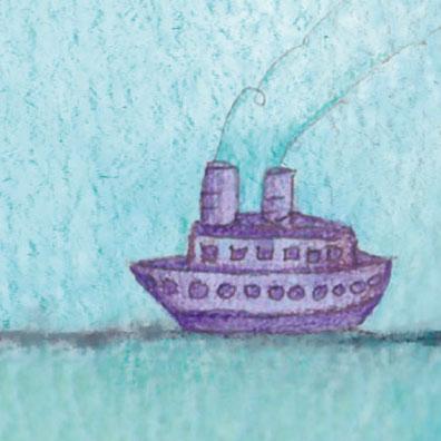 Affiche commentée de Poesia sin fin de Alejandro Jodorowsky : détail sur le bateau
