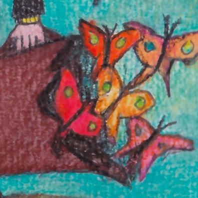Affiche commentée de Poesia sin fin de Alejandro Jodorowsky : détail sur le dessin