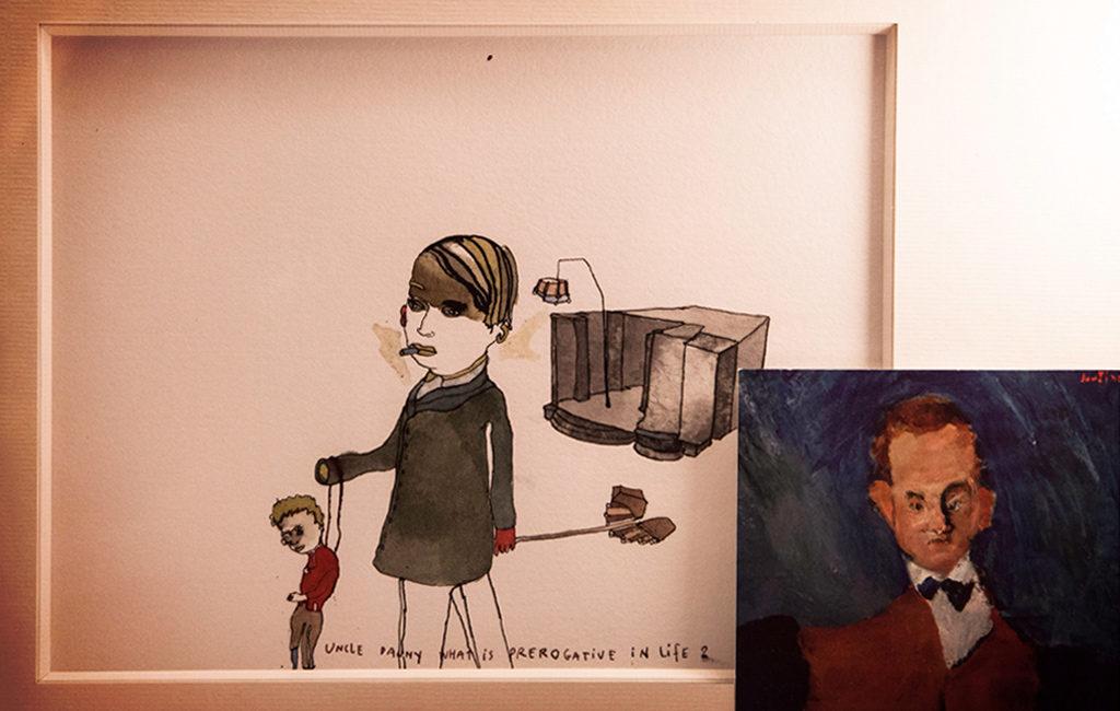 Dans la loge d'Edouard Baer : illustration de Christine Rebet © Mathieu Menossi.