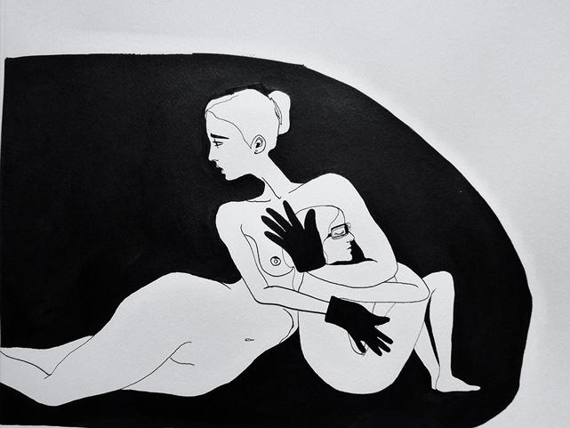 Dessins de Louise Bourgoin pour Tirez la langue, mademoiselle réalisé par Axelle Ropert. © Louise Bourgoin