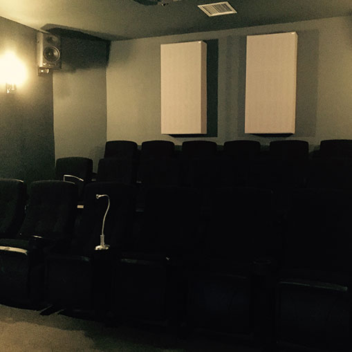 Inside the Asylum : visite de la salle de projection.